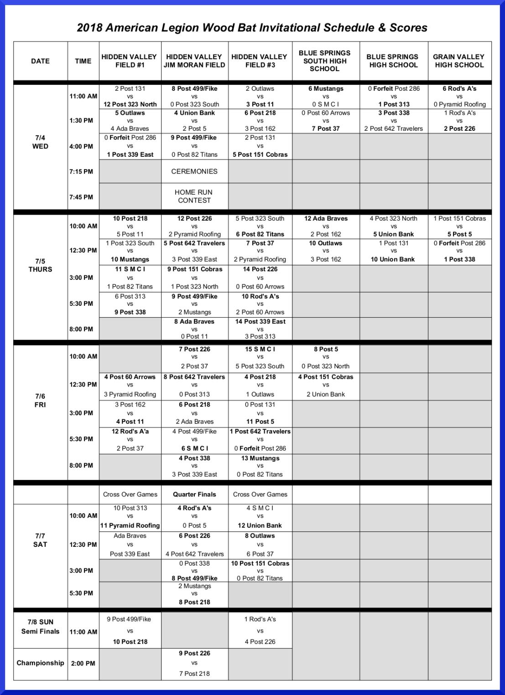 2018SrWoodBat ScheduleFinal